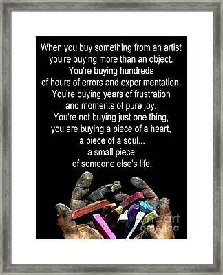 An Artist's Plea Framed Print