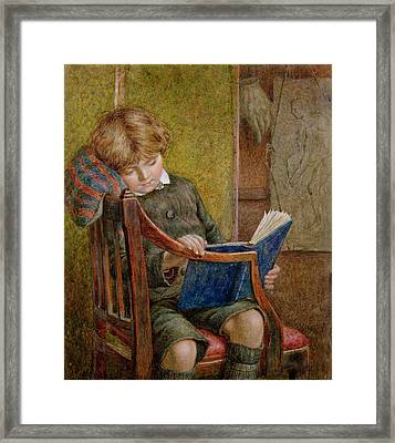 An Artists Son Framed Print by Charles James Adams