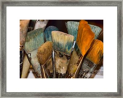 An Artist's Tools Framed Print