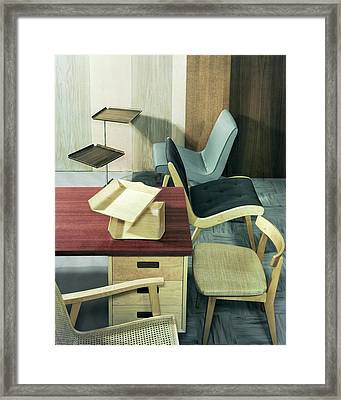 An Assortment Of Office Furniture Framed Print by Wiliam Grigsby