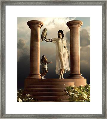 An Audience With Athena Framed Print