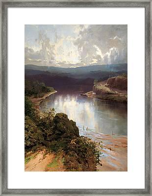 An Australian Fjord Framed Print