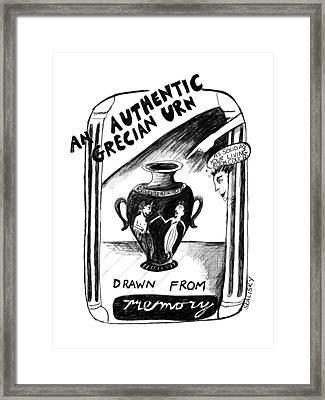 An Authentic Grecian Urn-drawn From Memory Framed Print by Stephanie Skalisk