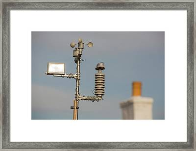 An Automated Weather Station Framed Print