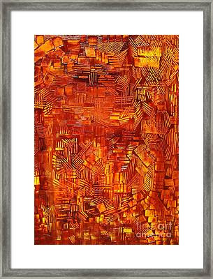 An Autumn Abstraction Framed Print by Michael Kulick