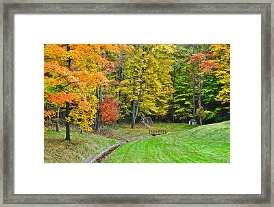 An Autumn Childhood Framed Print by Frozen in Time Fine Art Photography