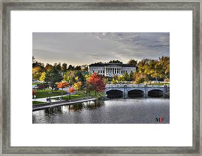 An Autumn Day At Hoyt Lake...dusk Oct2014 Framed Print by Michael Frank Jr