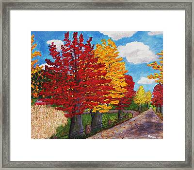 An Autumn Drive Framed Print