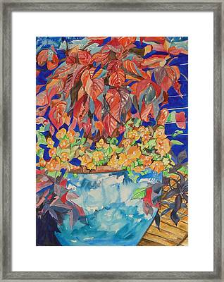 An Autumn Floral Framed Print