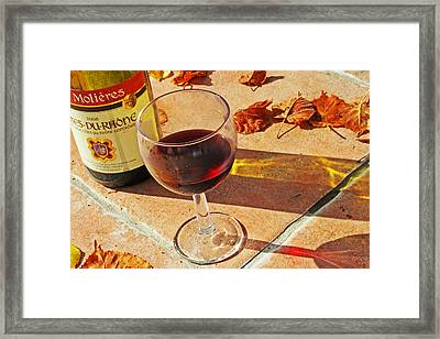 An Autumn Glass Of Red Framed Print