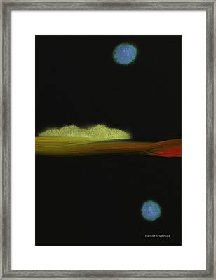 An Autumn Night Framed Print by Lenore Senior