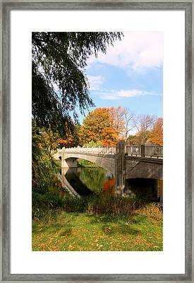 An Autumn Scene Framed Print