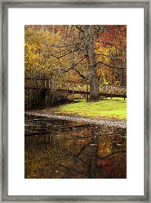 An Autumns Moment Framed Print by Karol Livote