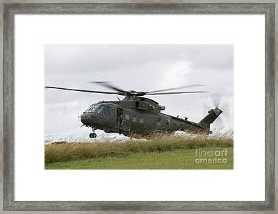 An Aw101 Merlin Helicopter Of The Royal Framed Print by Ofer Zidon