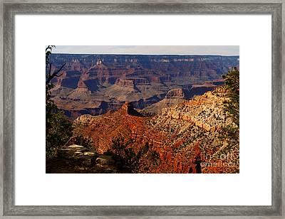 An Awesome View Of The Grand Canyon Framed Print