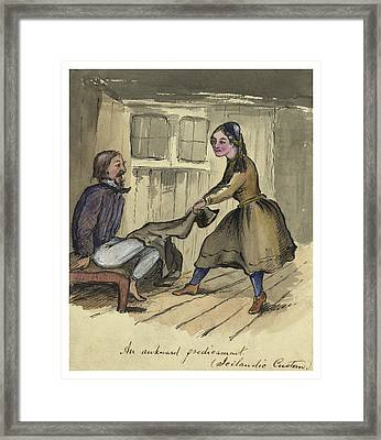 An Awkward Predicament Circa 1862 Framed Print by Aged Pixel