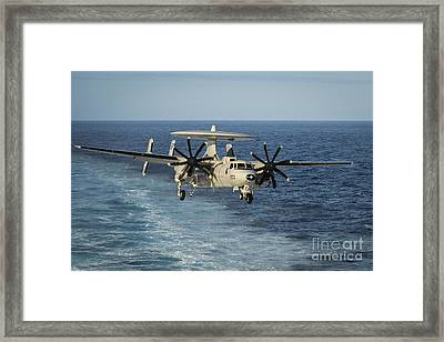 An E-2c Hawkeye Prepares To Land Framed Print by Stocktrek Images