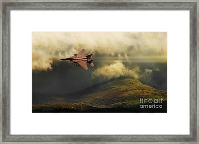 An Eagle Over Cumbria Framed Print by Meirion Matthias