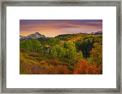 An Early Fall Morning Framed Print