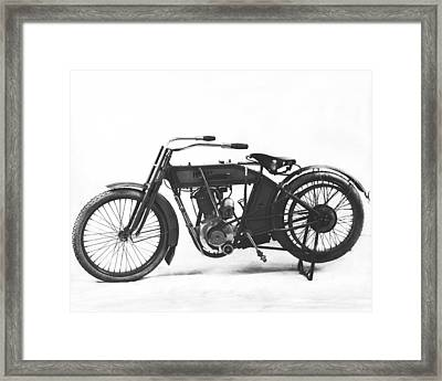 An Early Harley-davidson Framed Print by Underwood Archives