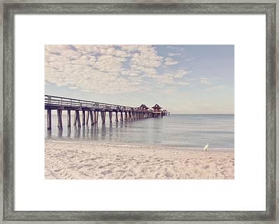 An Early Morning - Naples Pier Framed Print by Kim Hojnacki