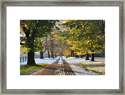 An Early Winter Framed Print by Bill Cannon