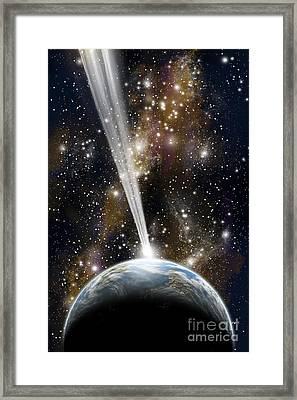 An Earth-like Planet Facing An Imminent Framed Print by Marc Ward