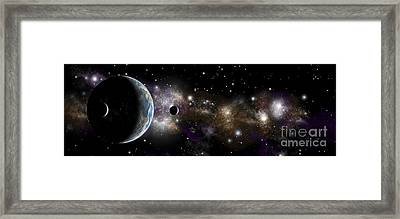 An Earth-like Planet With A Pair Framed Print