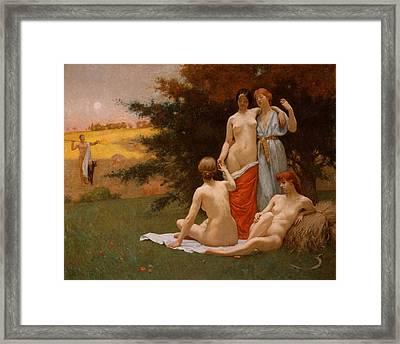 An Eclogue Framed Print by Kenyon Cox