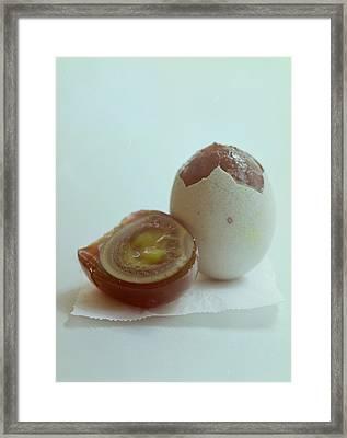 An Egg Framed Print