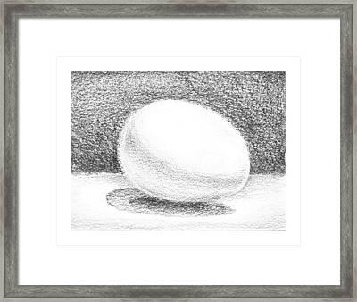 An Egg Study One Framed Print by Irina Sztukowski