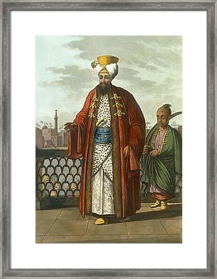 An Egyptian Bey Framed Print by Luigi Mayer