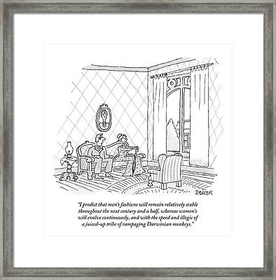 An Eighteenth Century Man Says To His Wife. Both Framed Print