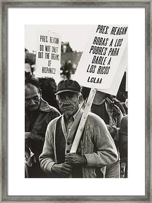 An Elderly Man In The Solidarity Day Framed Print