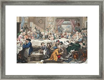 An Election Entertainment, Illustration Framed Print by William Hogarth