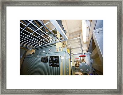 An Electrical Transformer Framed Print by Ashley Cooper