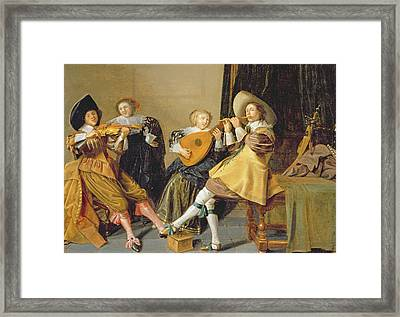 An Elegant Company Playing Music In An Framed Print