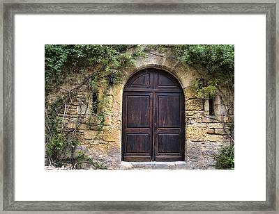 An Elegant French Door Framed Print by Georgia Fowler