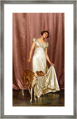 An Elegant Lady Framed Print by Vittorio Reggianini