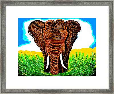 An Elephant-3 Framed Print by Anand Swaroop Manchiraju