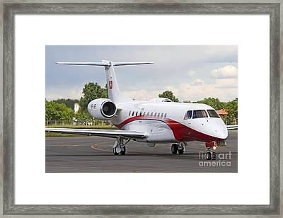 An Embraer Legacy 600 Private Jet Framed Print by Luca Nicolotti