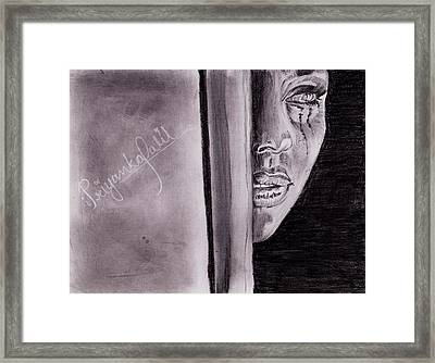 An Emotional Girl Framed Print by Priyanka Patil