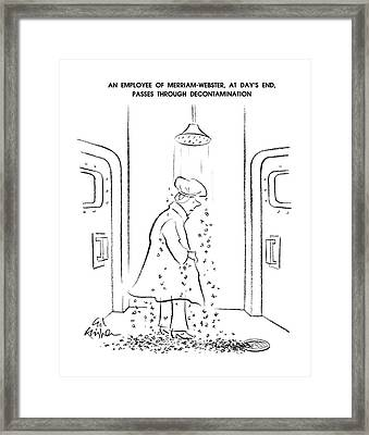 An Employee Of Merriam-webster Framed Print by Ed Fisher