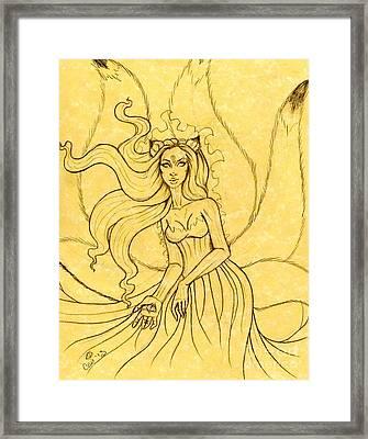 An Enchanting Breeze Sketch Framed Print by Coriander  Shea