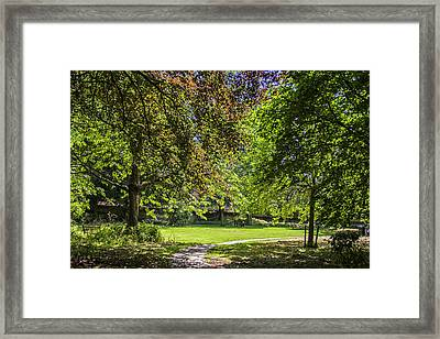 An English City Park Framed Print