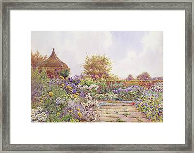 An English Country Garden Framed Print
