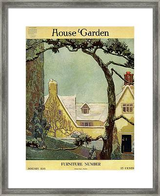An English Country House Framed Print by Porter Woodruff