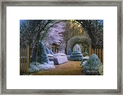 An English Garden Framed Print