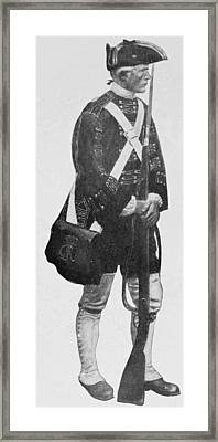 An English Soldier, From The Mural Decoration, Hudson County Court House, Jersey City, New Jersey Framed Print