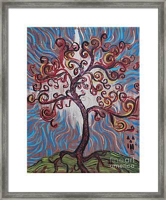 An Enlightened Tree Framed Print